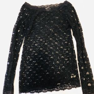 Blouse Lace long sleeve size M